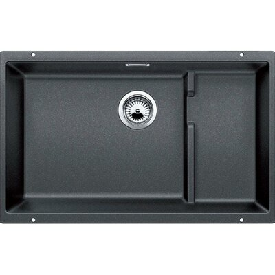 Precis 27.5 x 18.13 Cascade Single Kitchen Sink Finish: Anthracite