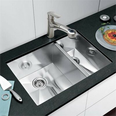 Precision 29 x 20 Bowl Kitchen Sink Finish: Stainless Steel