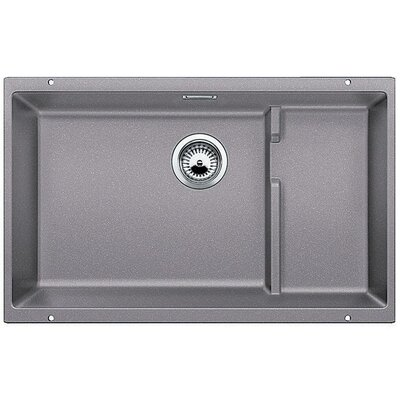 Precis 27.5 x 18.13 Cascade Single Kitchen Sink Finish: Metallic Gray