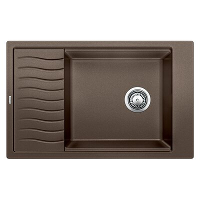 Precis 30.69 x 19.69 Medium Single Kitchen Bowl Sink with Drainer Finish: Cafe Brown