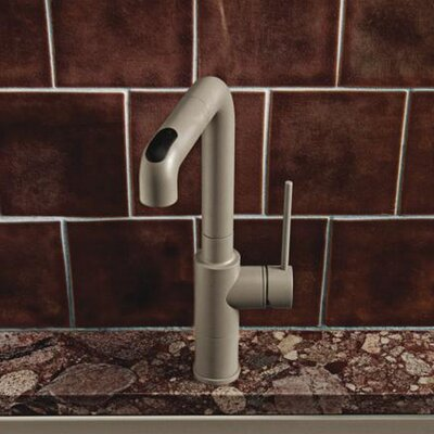Acclaim Single Handle Deck Mounted Kitchen Faucet with Pull Out Spray Finish: Truffle