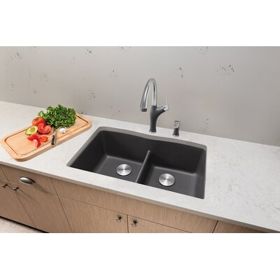 Artona Single Handle Deck Mounted Kitchen Faucet with Pull Down Spray Finish: Cinder