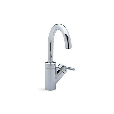 Rados Single Handle Deck Mounted Kitchen Faucet with Lever Handle Finish: Satin Nickel