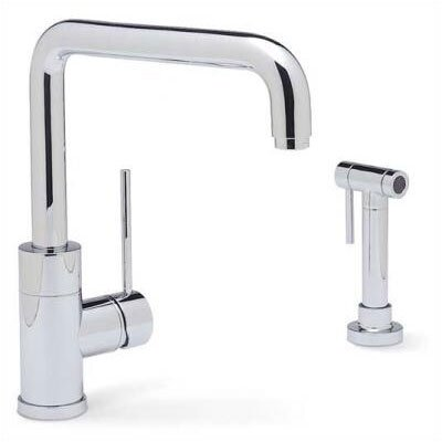 Purus Single Handle Deck Mounted Standard Kitchen Faucet Finish: Polished Chrome, Side Spray Included: Yes