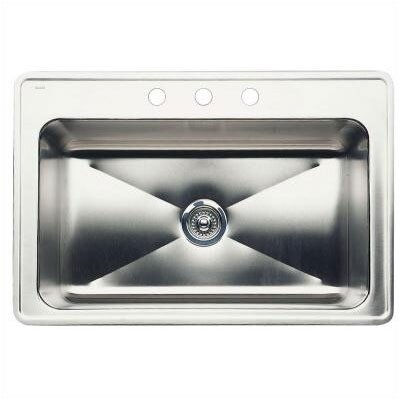 Magnum 33 x 22 Large Single Bowl Drop-In Kitchen Sink