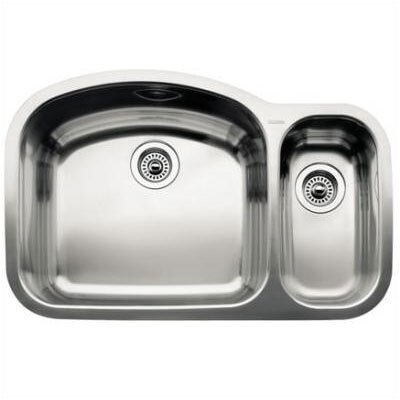 Wave 32.09 x 20.88 2 Basin Undermount Kitchen Sink