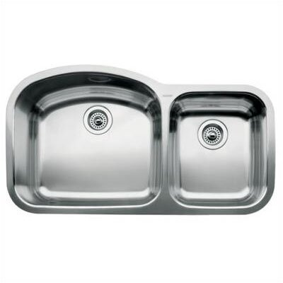 Wave 37.09 x 20.88 Bowl Undermount Kitchen Sink
