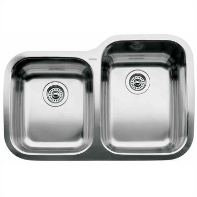 Supreme 31.31 x 20.88 Reverse Bowl Undermount Kitchen Sink
