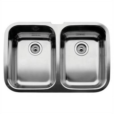 Supreme 32 x 20.88 Equal Double Bowl Undermount Kitchen Sink