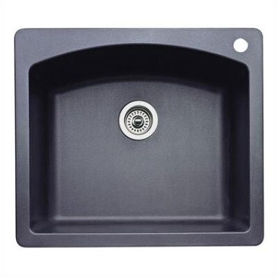Diamond 25 x 22 Single Bowl Drop-In Kitchen Sink Finish: Anthracite