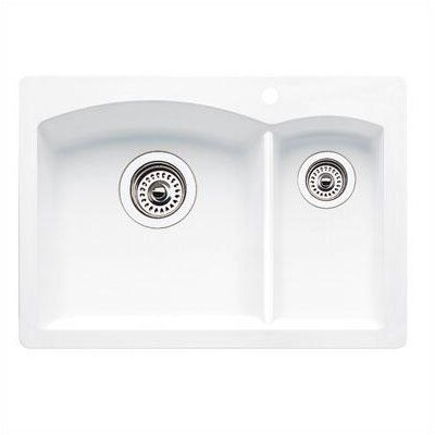 Diamond 20.63 x 15 Drop-In Kitchen Sink Finish: White