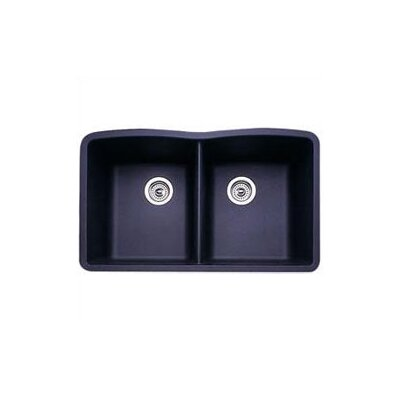 Diamond 32 x 19.25 Equal Double Bowl Undermount Kitchen Sink Finish: Anthracite