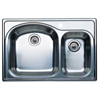 "Wave Plus 33"" x 22"" Plus Bowl Drop-In Kitchen Sink 440171"