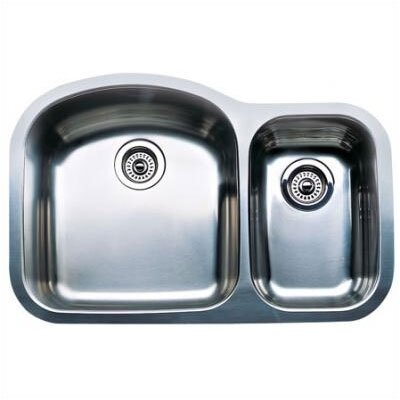 Wave 31.5 x 20.88 Plus Bowl Undermount Kitchen Sink