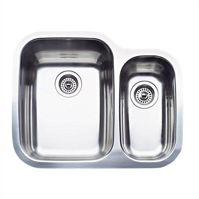 Supreme 25.75 x 20.44 2 Basin Undermount Kitchen Sink