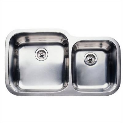 Supreme 35.44 x 20.88 Super Bowl Undermount Kitchen Sink