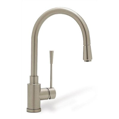 Kontrole Single Handle Deck Mounted Kitchen Faucet with Pull Down Spray Finish: Polished Chrome