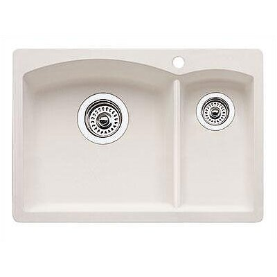 Diamond 20.63 x 15 Drop-In Kitchen Sink Finish: Biscuit