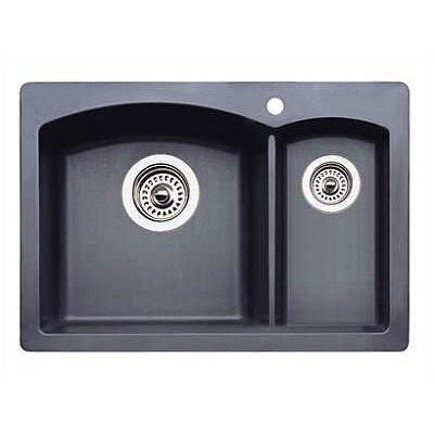 Diamond 20.63 x 15 Drop-In Kitchen Sink Finish: Anthracite