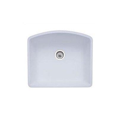 Diamond 24 x 20.81 Single Bowl Undermount Kitchen Sink Finish: White