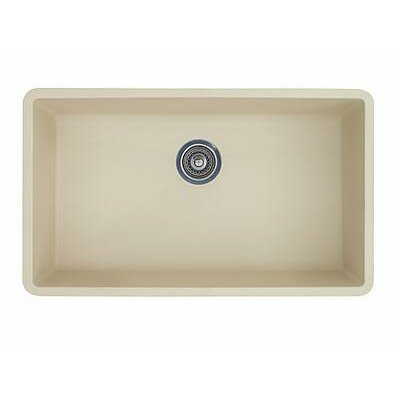 Precis 32 x 19 Super Single Bowl Kitchen Sink Finish: Biscuit