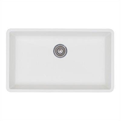 Precis 32 x 19 Super Single Bowl Kitchen Sink Finish: White
