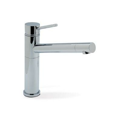 Alta Single Handle Deck Mounted Kitchen Faucet with Lever Handle Finish: Polished Chrome