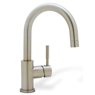 Meridian Single Handle Deck Mounted Bar Faucet  with Lever Handle Finish: Stainless (Satin Nickel)