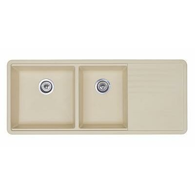 Precis 48 x 20 Multilevel Kitchen Sink Finish: Biscuit