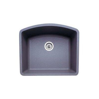 Diamond 24 x 20.81 Single Bowl Undermount Kitchen Sink Finish: Metallic Gray