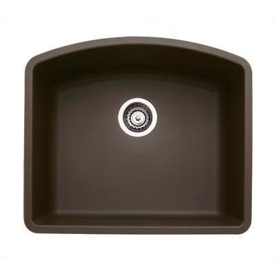 Diamond 24 x 20.81 Single Bowl Undermount Kitchen Sink Finish: Cafe Brown