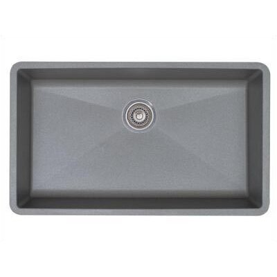 Precis 32 x 19 Super Single Bowl Kitchen Sink Finish: Metallic Gray