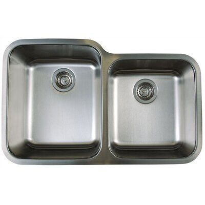 Stellar 32.33 x 20.5 Double Bowl Undermount Kitchen Sink