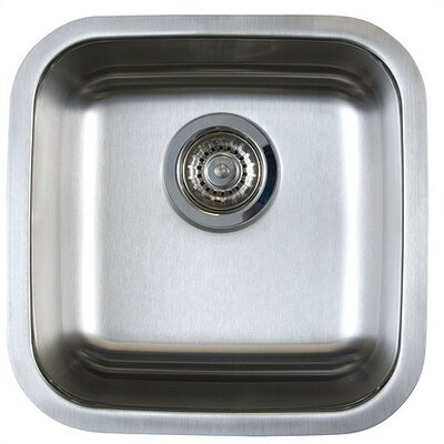 Stellar 15 x 15 Single Bowl Undermount Bar Sink