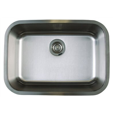Stellar 25 x 18 Medium Single Bowl Undermount Kitchen Sink