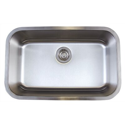 Stellar 28 x 18 Super Single Bowl Undermount Kitchen Sink