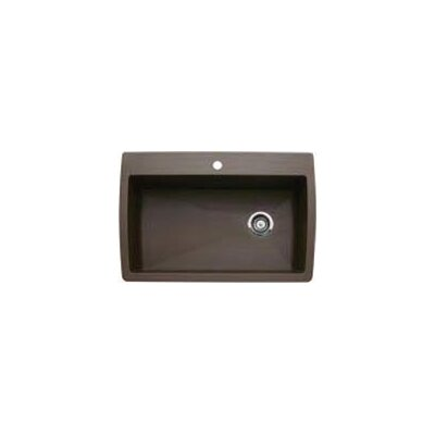 Diamond 33.5 x 22 Super Single Bowl Drop-In Kitchen Sink Finish: Cafe Brown