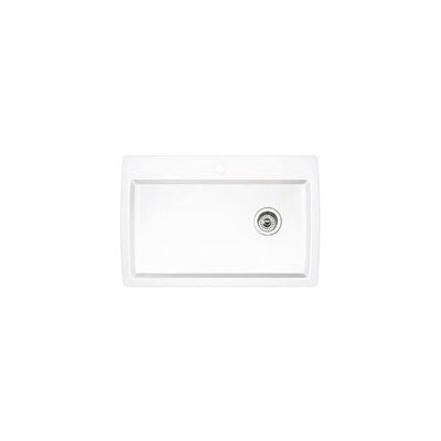 Diamond 33.5 x 22 Super Single Bowl Drop-In Kitchen Sink Finish: White