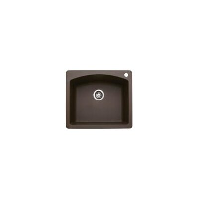 Diamond 25 x 22 Single Bowl Drop-In Kitchen Sink Finish: Cafe Brown