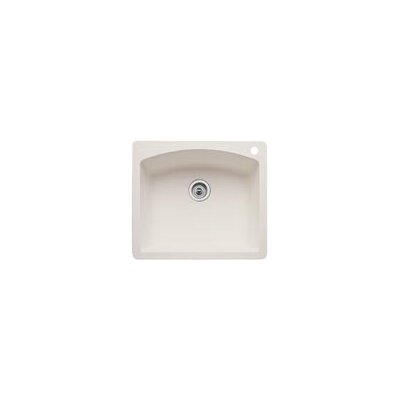 Diamond 25 x 22 Single Bowl Drop-In Kitchen Sink Finish: Biscuit