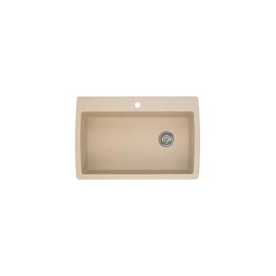 Diamond 33.5 x 22 Super Single Bowl Drop-In Kitchen Sink Finish: Biscotti