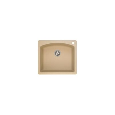 Diamond 25 x 22 Single Bowl Drop-In Kitchen Sink Finish: Biscotti