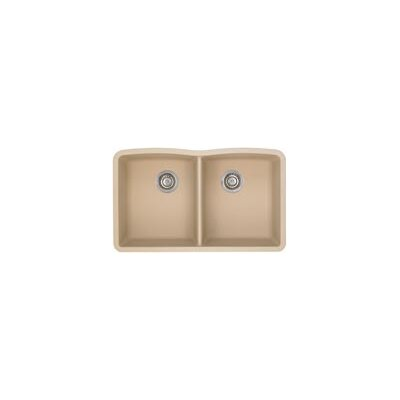 Diamond 32 x 19.25 Equal Double Bowl Undermount Kitchen Sink Finish: Biscotti