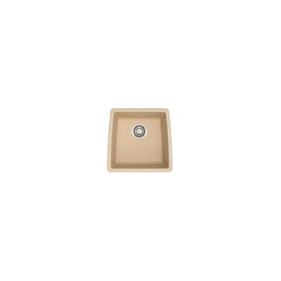 Performa 17.5 x 17 Silgranit II Single Bowl Undermount Bar Sink Finish: Biscotti
