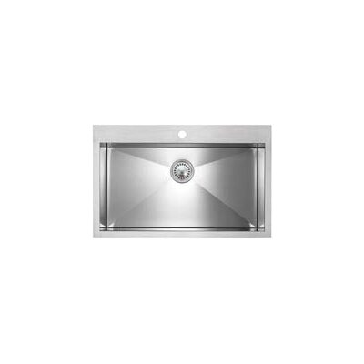 Precision Microedge 32.5 x 20.5 Super Single Bowl Kitchen Sink Faucet Drillings: 1 Hole