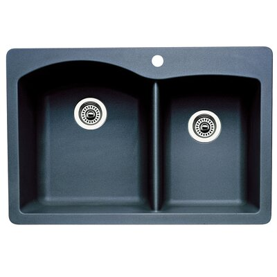Diamond 33 x 22 Bowl Drop-In Kitchen Sink Finish: Anthracite