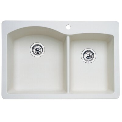 Diamond 33 x 22 Bowl Drop-In Kitchen Sink Finish: Biscuit