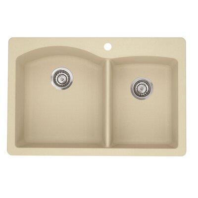 Diamond 33 x 22 Bowl Drop-In Kitchen Sink Finish: Biscotti