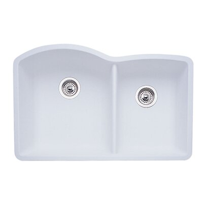 Diamond 32 x 19 Bowl Undermount Kitchen Sink Finish: White