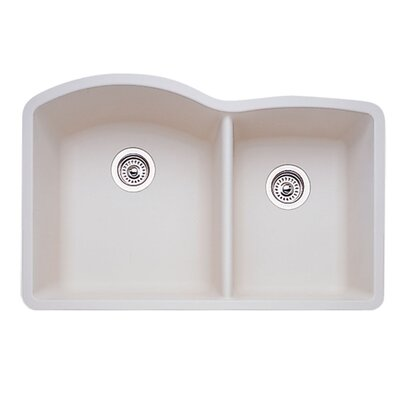 Diamond 32 x 19 Bowl Undermount Kitchen Sink Finish: Biscuit